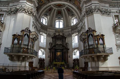 Kyrka i barock stil Arkivfoto