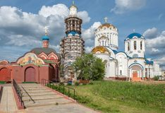 Kyrka i Bibirevo, Moskva Royaltyfri Foto