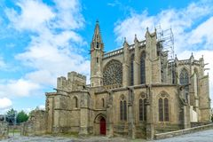 Kyrka i Carcassonne Royaltyfria Foton