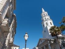 Kyrka i charlestonen, South Carolina Fotografering för Bildbyråer