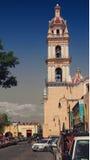 Kyrka i Cholula Arkivbilder