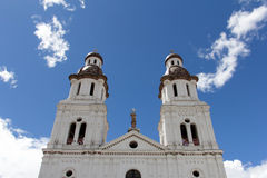 Kyrka i Cuenca, Ecuador Royaltyfri Fotografi