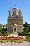 Kyrka i Curtea de Arges, Rumänien Fotografering för Bildbyråer