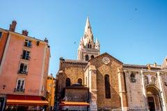 Kyrka i den Grenoble staden Royaltyfri Fotografi