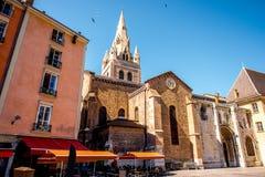 Kyrka i den Grenoble staden Fotografering för Bildbyråer
