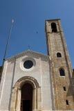 Kyrka i den historiska mitten av Gubbio Royaltyfria Foton