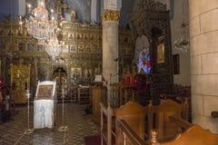 Kyrka i den Lefkara byn på Cypern Arkivfoto