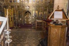 Kyrka i den Lefkara byn på Cypern Royaltyfri Foto