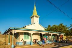 Kyrka i den Morondava staden Royaltyfri Fotografi
