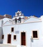 Kyrka i den Oia santorinien Grekland Royaltyfri Bild