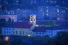Kyrka i den Oradea citadellen royaltyfri fotografi