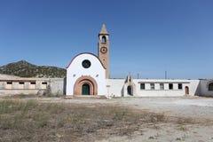 Kyrka i den Rhodes ön Royaltyfria Bilder