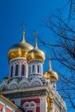 Kyrka i den Shipka kloster Fotografering för Bildbyråer