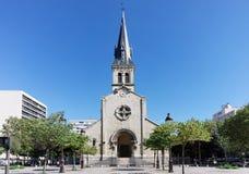 Kyrka i den 13th arrondissementen av Paris Royaltyfri Bild