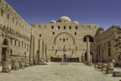 Kyrka i den vita kloster i Sohag, Egypten royaltyfri foto