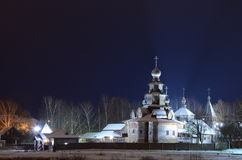 Kyrka i det Suzdal museet av träarkitektur Royaltyfria Foton