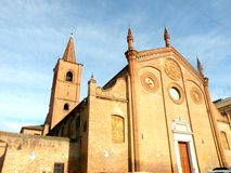 Kyrka i Ferrara, Italien Royaltyfria Bilder