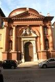 Kyrka i Ferrara, Italien Arkivfoton