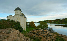Kyrka i gamla Ladoga, Ryssland Arkivbild