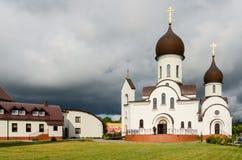 Kyrka i heder av skydd av modern av guden och i namn av Sa Royaltyfri Fotografi