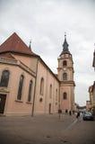 Kyrka i i stadens centrum Ludwigsburg Fotografering för Bildbyråer