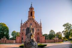 Kyrka i Kernave, Litauen royaltyfria foton
