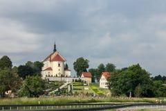 Kyrka i Krakow Polen Arkivbild
