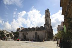 Kyrka i Lahavannacigarr Royaltyfri Bild