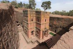 Kyrka i Lalibela, Etiopien Arkivbild