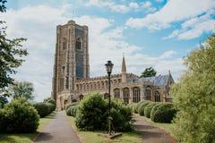 Kyrka i Lavenham Arkivfoto