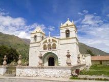 Kyrka i Maca, Arequipa, Peru. Royaltyfria Foton