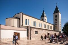 Kyrka i Medjugorje Hercegovina Royaltyfri Fotografi