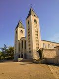 Kyrka i Medugorje Arkivfoton