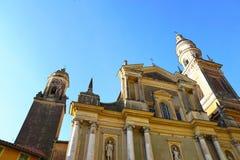 Kyrka i Menton i Frankrike arkivbild