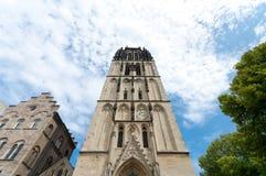 Kyrka i Munster, Tyskland Royaltyfria Foton