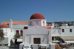 Kyrka i Mykonos Royaltyfria Foton
