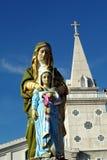 Kyrka i Nakornpanom Royaltyfri Bild