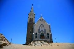 Kyrka i Namibia Royaltyfri Fotografi