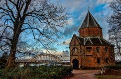 Kyrka i Nijmegen Fotografering för Bildbyråer