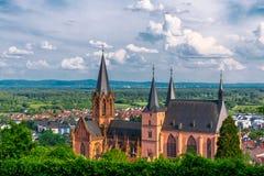Kyrka i Oppenheim, Tyskland royaltyfri foto