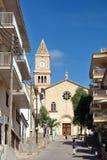Kyrka i Porto Cristo Mallorca Royaltyfri Bild