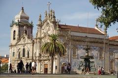 Kyrka i Porto Portugal royaltyfri fotografi