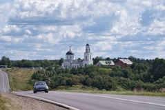 Kyrka i Radonezhen Ryssland Arkivfoton