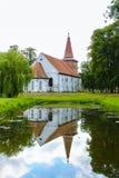 Kyrka i Rusne, Litauen Arkivbild