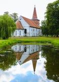 Kyrka i Rusne, Litauen Royaltyfria Foton