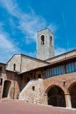 Kyrka i San Gimignano arkivbilder