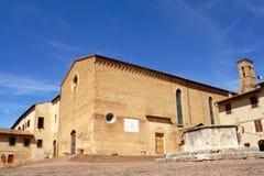 Kyrka i San Gimignano Royaltyfri Bild