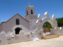 Kyrka i San Pedro, Chile Royaltyfria Bilder