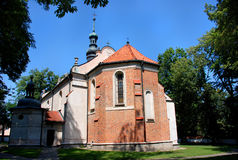 Kyrka i Sandomierz Arkivfoton