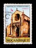 Kyrka i Santarem, 500. årsdag P A Cabral serie, circa 1968 Arkivfoton